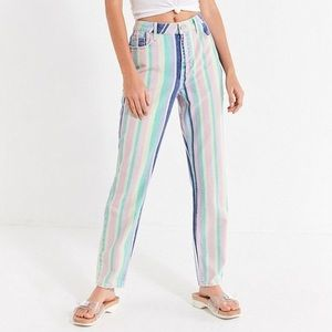 BDG Vintage Rainbow Mom Jeans